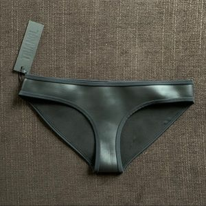 Triangl faux leather bikini bottoms
